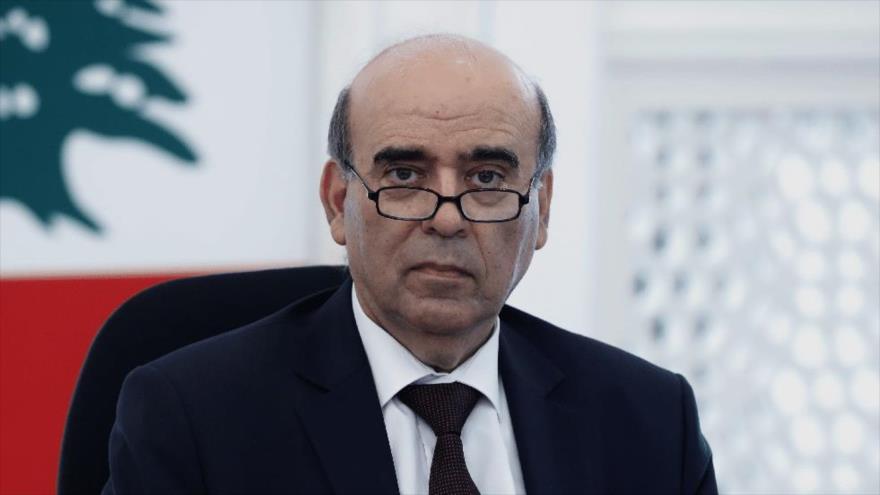 El ministro interino de Asuntos Exteriores de El Líbano, Charbel Wehbe.
