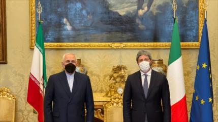 Zarif aborda en Italia las agresiones israelíes contra palestinos