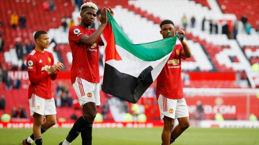 Vídeo: Jugadores de Manchester United ondean bandera palestina