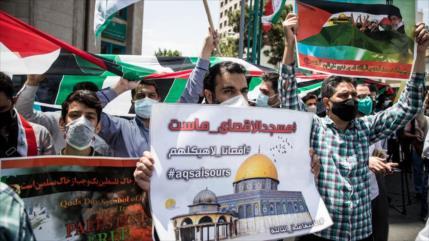 """Iraníes condenan """"Holocausto israelí"""" contra el pueblo palestino"""