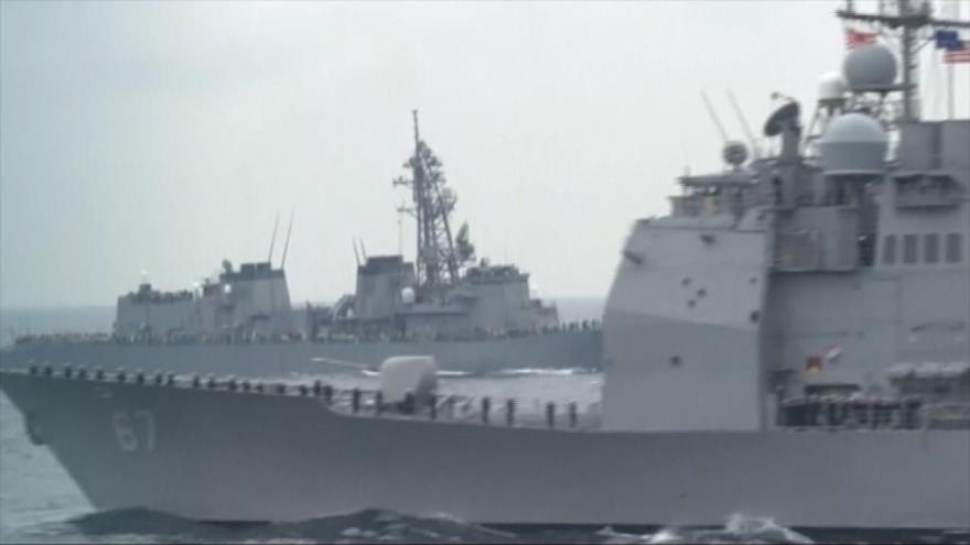 Revivida tensión China-EEUU: Buque de EEUU cruza estrecho de Taiwán