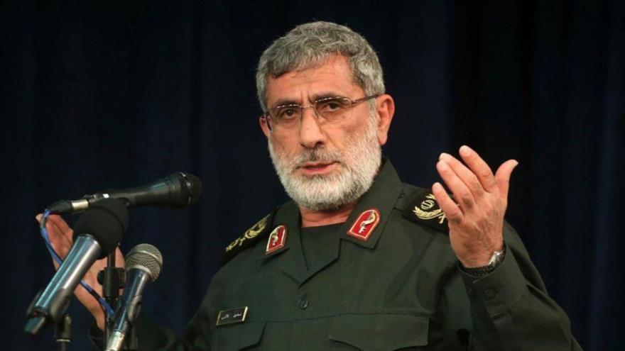 El comandante de la Fuerza Quds del Cuerpo de Guardianes de la Revolución Islámica de Irán (CGRI), el general de brigada Ismail Qaani.