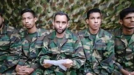 Vídeo muestra a militares venezolanos secuestrados por las FARC