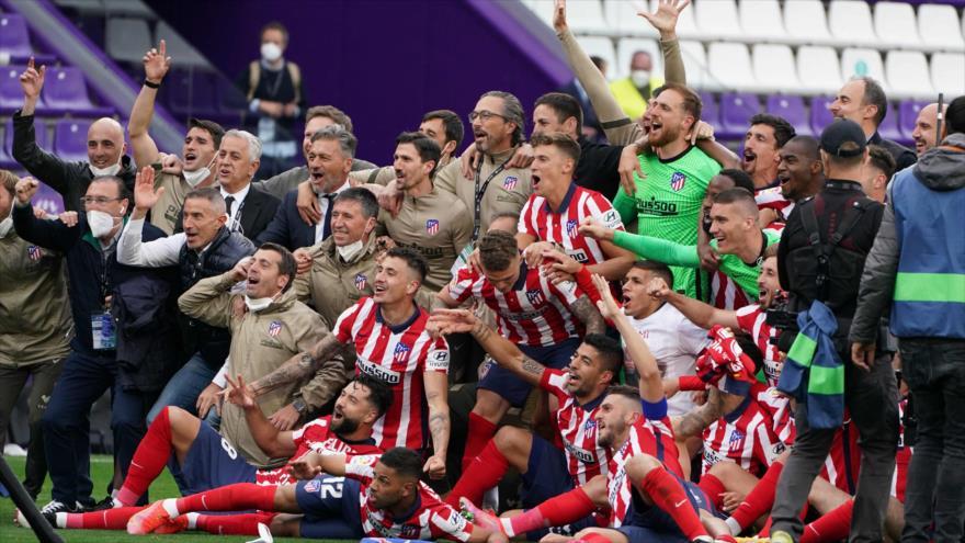 Rojiblancos se coronan campeón de la Liga española tras siete años