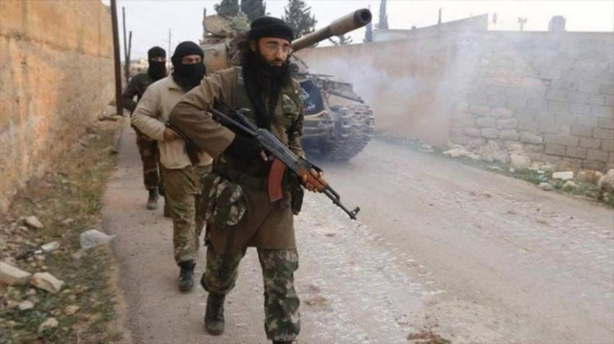 Terroristas del Frente Al-Nusra (autoproclamado Frente Fath al-Sham) en Siria.