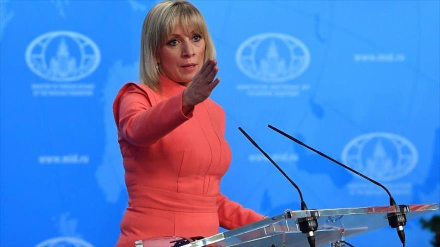 La portavoz del Ministerio de Asuntos Exteriores de Rusia, María Zajárova.