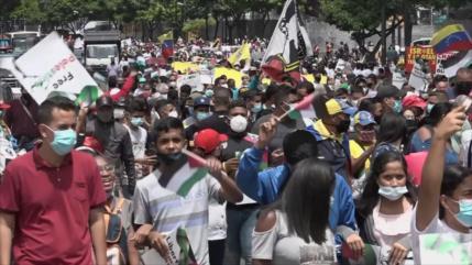 Venezolanos se solidarizan con el pueblo palestino