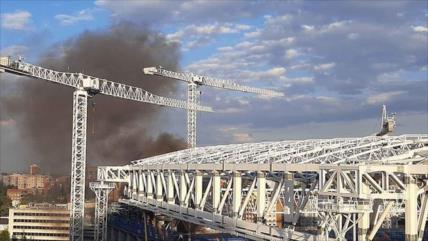 Sofocan un incendio en el estadio Santiago Bernabéu de Madrid
