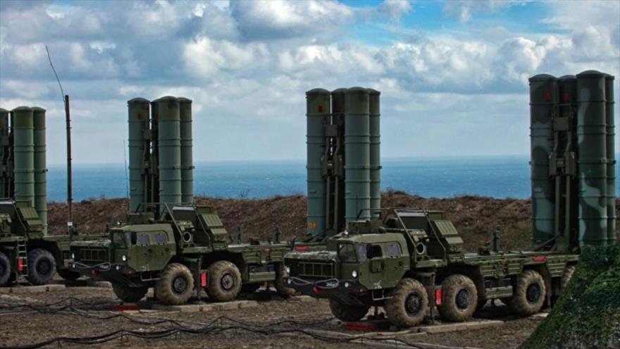 El sistema antiaéreo ruso S-500.