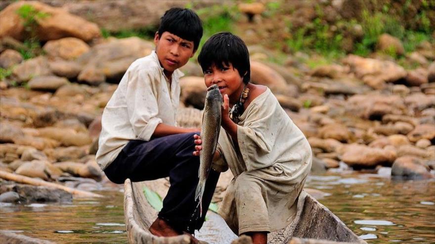Indígenas tsimané, originarios de la Amazonía boliviana.