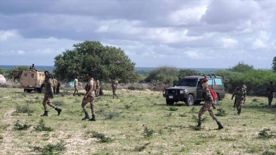 Militares somalíes interceptan a terroristas de Al-Shabab durante operaciones en Medio Shabelle, mayo de 2021. (Foto: Ejército Nacional de Somalia)