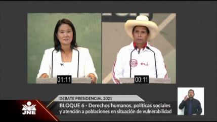 Último debate presidencial de cara al balotaje del 6 de junio en Perú