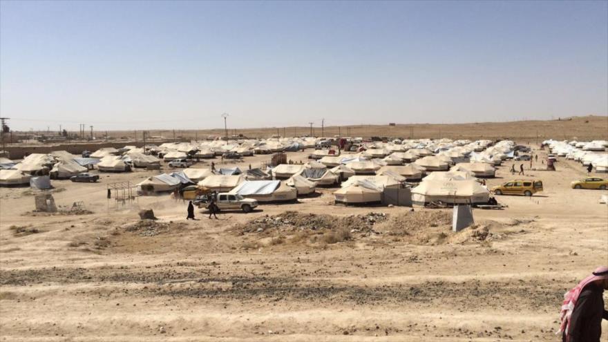 El campo de refugiados Al-Hawl, en el noreste del territorio de Siria.