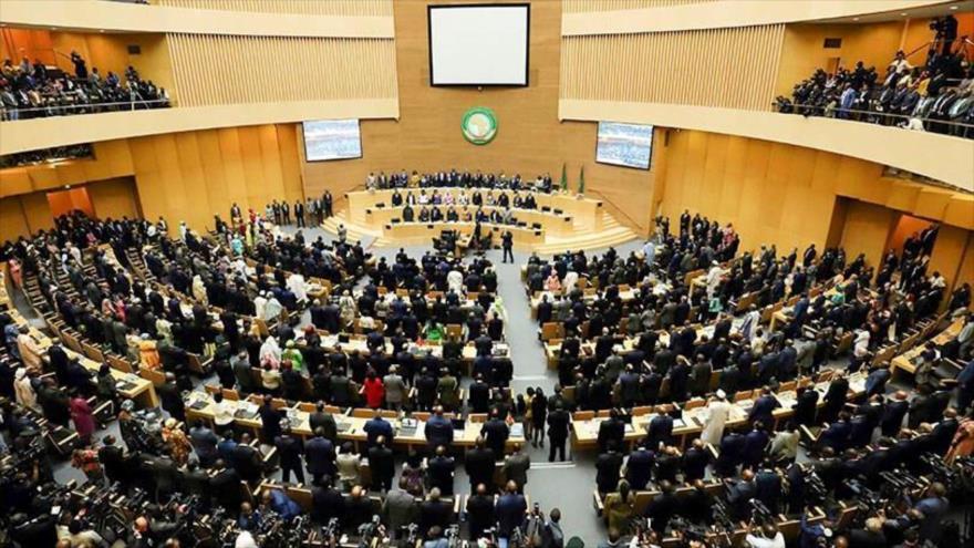 La apertura del 33º período ordinario de sesiones de la Asamblea de Jefes de Estado y de Gobierno de la UE en Adís Abeba, 30 de mayo de 2021. (Foto: Reuters)