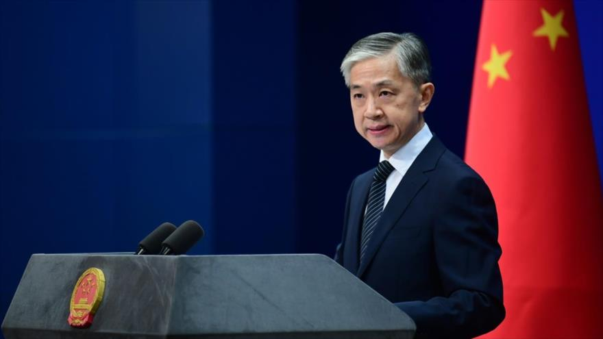 El portavoz de la Cancillería china, Wang Wenbin.