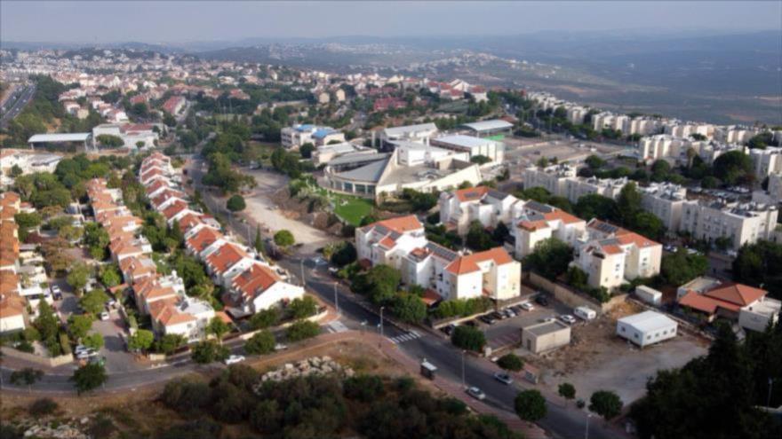 Vista general del asentamiento ilegal israelí Ariel, en la ocupada Cisjordania, 1 de julio de 2020. (Foto: AFP)