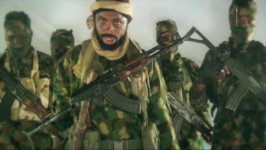 El líder del grupo terrorista Boko Haram, Abubakar Shekau.