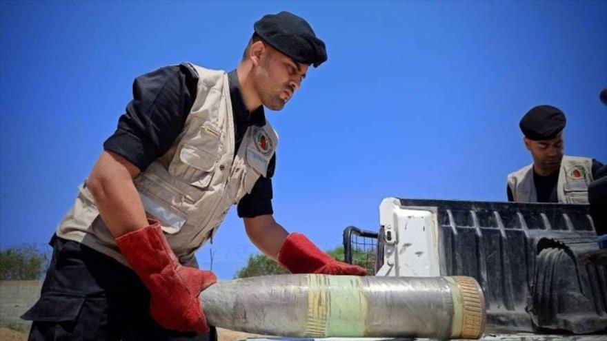 En imágenes: Palestina neutraliza 1200 bombas israelíes en Gaza