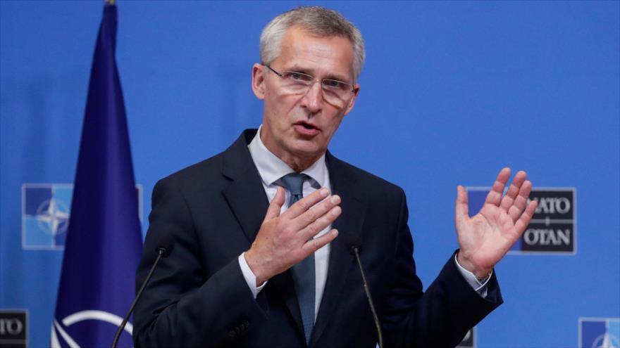 El secretario general de la OTAN, Jens Stoltenberg, habla en una conferencia de prensa en Bruselas, Bélgica, 3 de junio de 2021. (Foto: AFP)