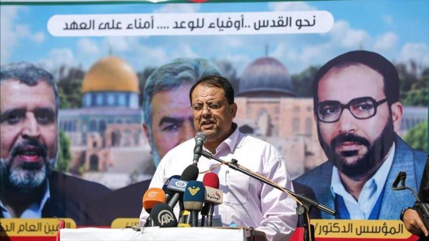 El portavoz del Movimiento de Yihad Islámica de Palestina, Davud Shahab.