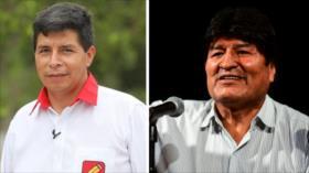 Morales: Saludos a Pedro Castillo con quien tenemos coincidencias