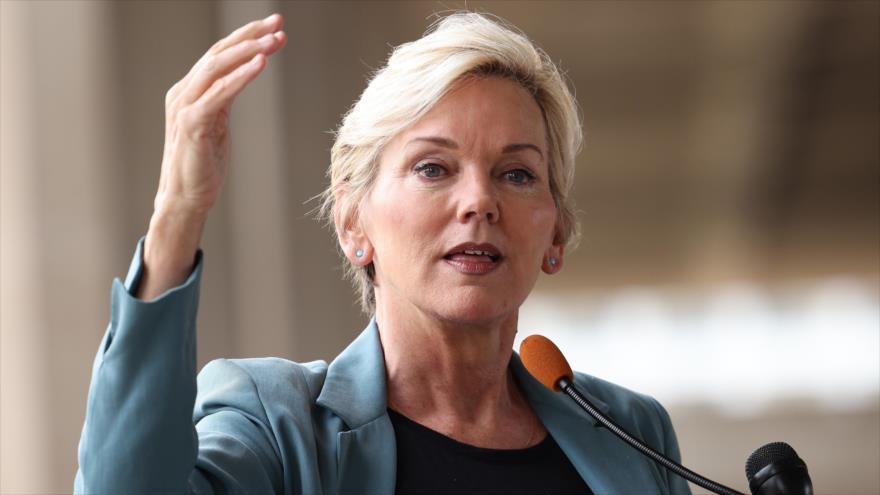 Ls secretaria de Energía de EE.UU., Jennifer Granholm, en un acto en Washington D.C., capital estadounidense, 2 de junio de 2021. (Foto: AFP)