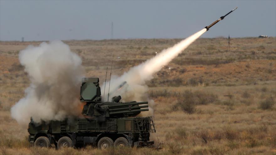 Un sistema ruso Pantsir-S de defensa aérea.