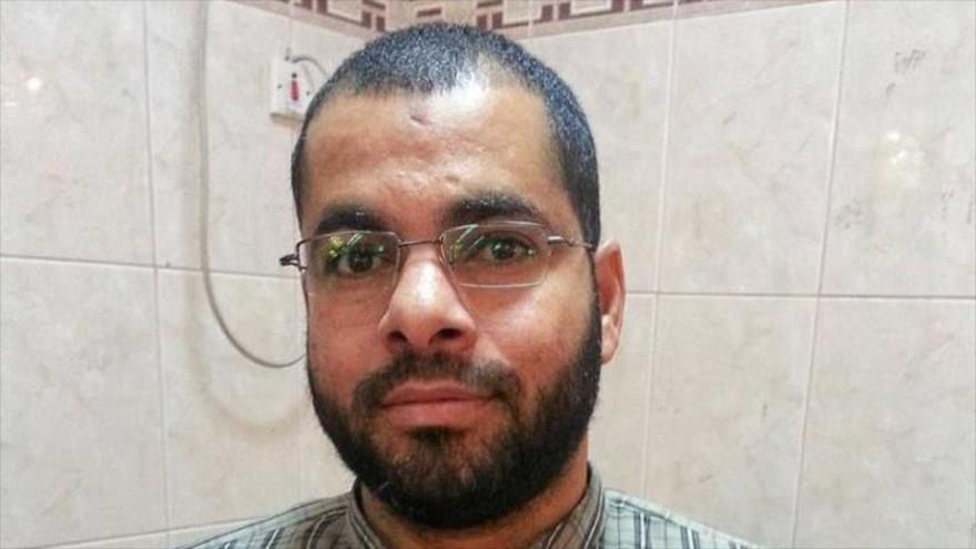 Husein Barakat, un prisionero bareiní, que muere luego de que se contagiara del coronavirus en prisión de Jau y se deteriorara su salud.