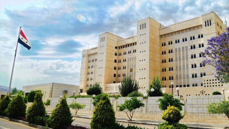 La sede del Ministerio de Exteriores y Expatriados de Siria en Damasco, la capital.
