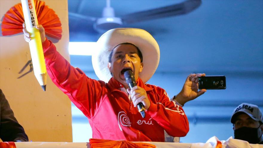 Castillo lidera presidenciales de Perú con 99% de actas procesadas | HISPANTV