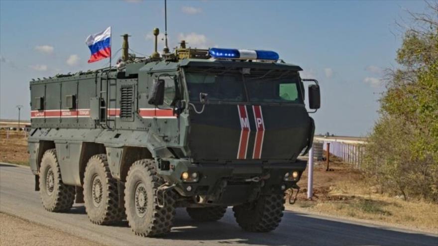 Explosión de vehículo blindado en Siria deja un soldado ruso muerto