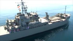 Flota iraní navega la ruta más larga realizada por la Armada persa