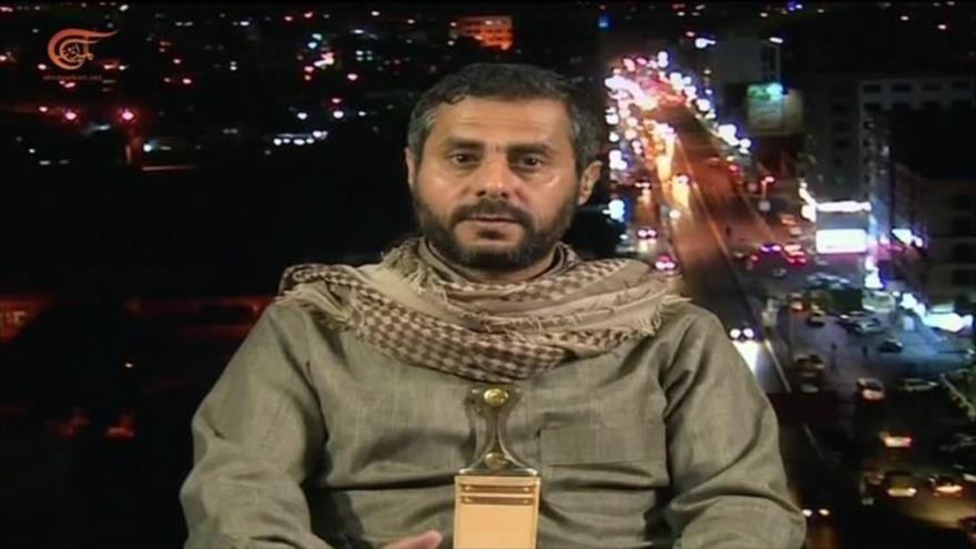 Miembro del Consejo Político Supremo de Yemen, Muhamad al-Bajiti, participa una entrevista con la televisión Al-Mayadeen, 10 de junio de 2021.