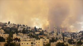 Se produce un incendio cerca del cuartel israelí en Al-Quds