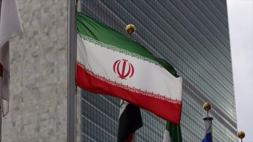 Una bandera iraní en la sede de las Naciones Unidas en Nueva York, 8 de enero de 2020. (Foto: Xinhua)
