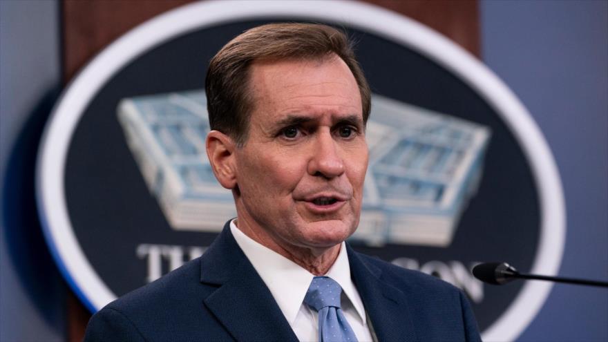 El portavoz del Departamento de Estado de EE.UU., John Kirby, habla durante una conferencia de prensa en el Pentágono, Washington, 28 de enero de 2021. (Foto: AP)