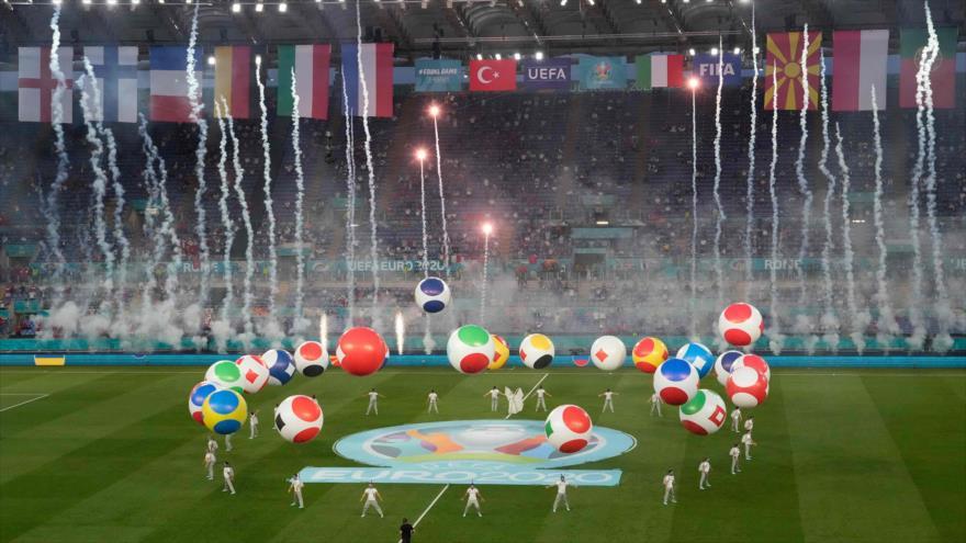 Ceremonia de apertura de Eurocopa 2020 en el estadio Olímpico de Roma, capital de Italia, 11 de junio de 2021. (Foto: AFP)