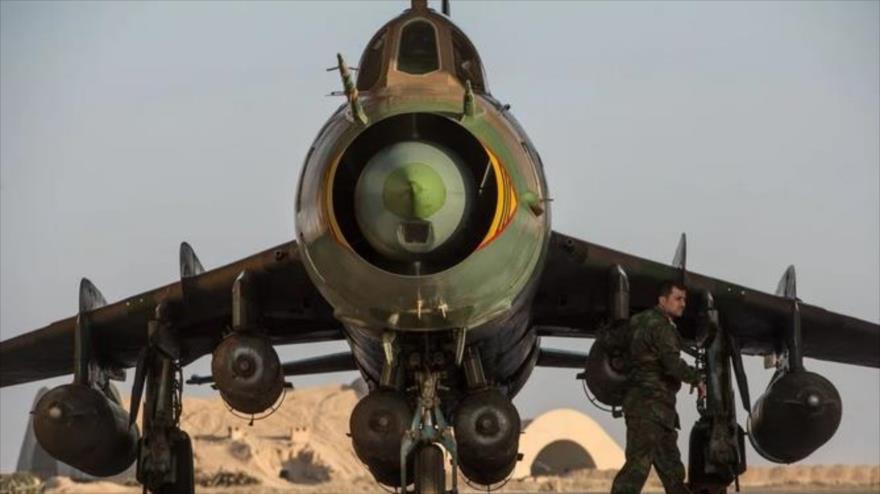 Rusia repara gran flota de cazas supersónicos sirios Su-22M4