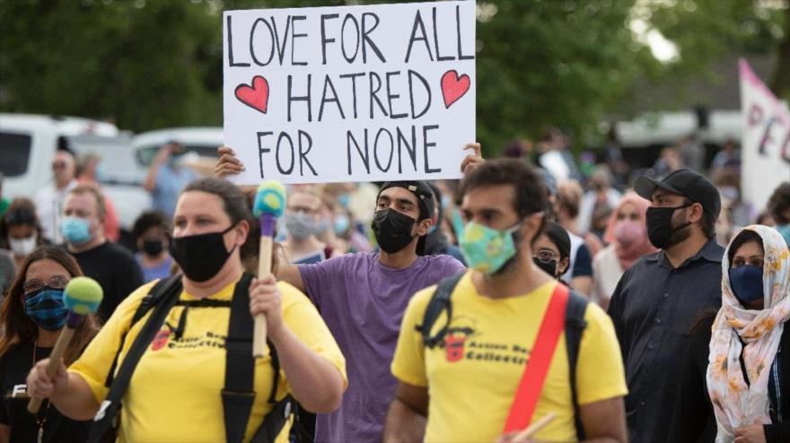 """""""La vida de los musulmanes importa"""": Marchan en Canadá contra islamofobia"""