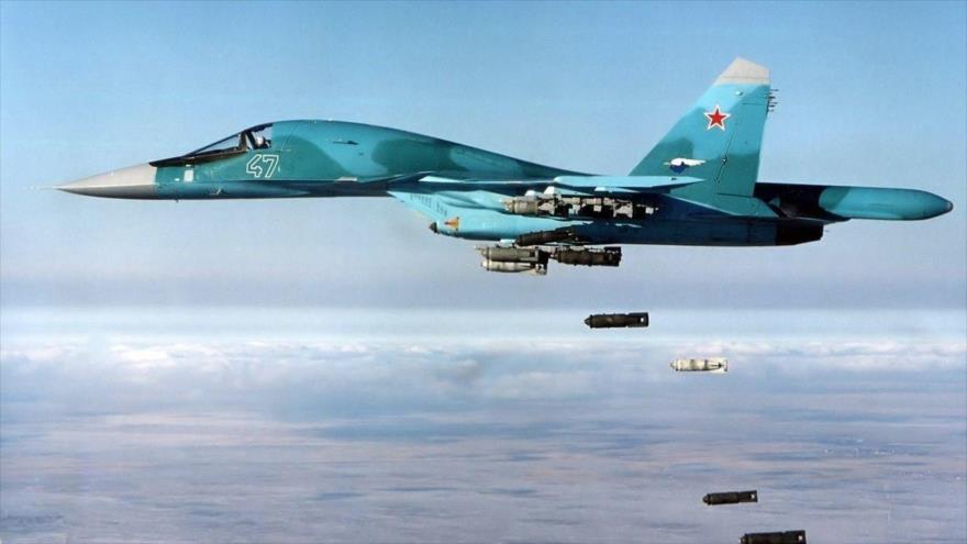 Vídeo: Aviación rusa bombardea blancos terroristas en Idlib