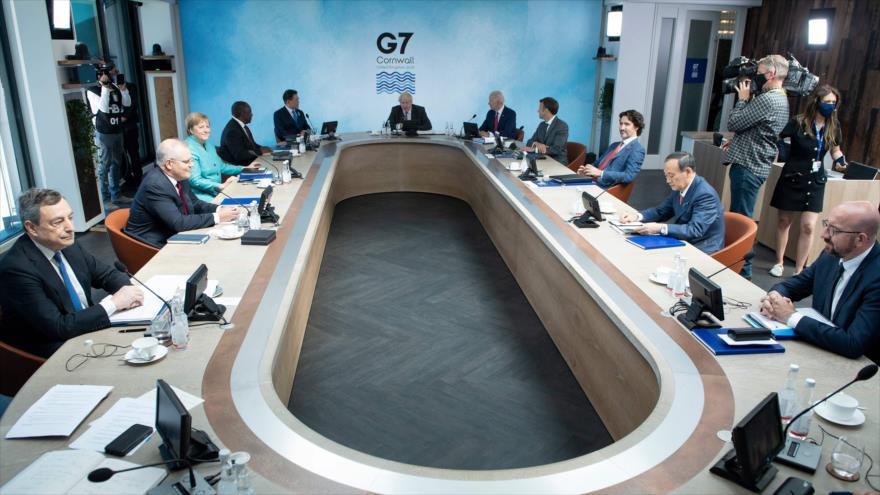 Reunión de los líderes del G7 en Carbis Bay, Cornwall, el Reino Unido, 12 de junio de 2021. (Foto: AFP)