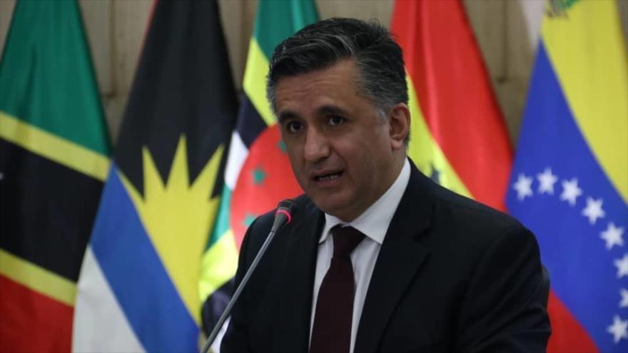 El secretario ejecutivo de la Alianza Bolivariana para los Pueblos de Nuestra América - Tratado de Comercio de los Pueblos (ALBA-TCP), Sacha Llorenti.