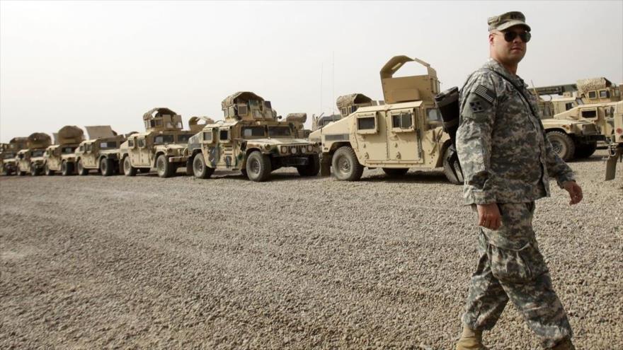Un soldado estadounidense en la base Victory en Bagdad, capital iraquí.