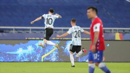Messi homenajeó a Maradona con un golazo en la Copa América 2021