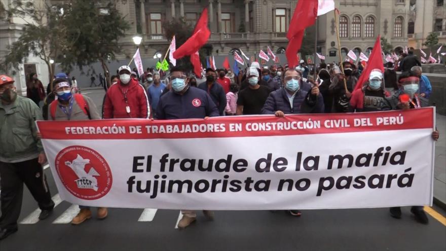 Seguidores de Castillo protagonizan protestas contra el JNE | HISPANTV