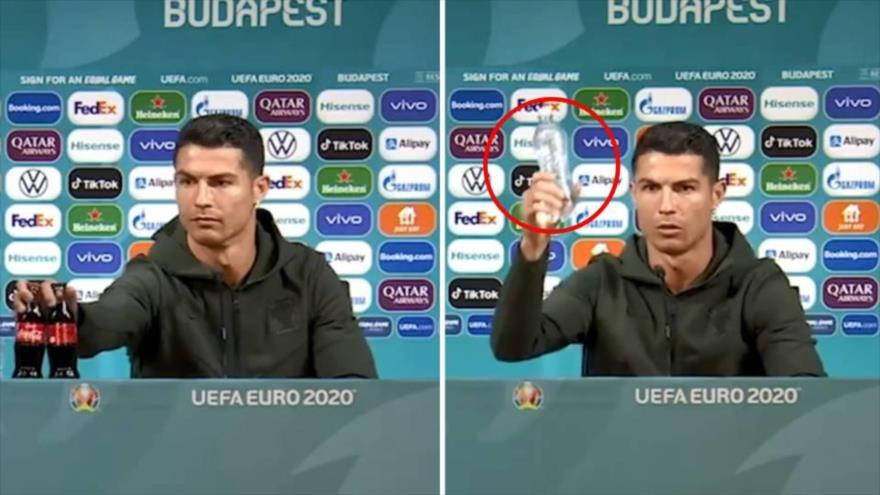 Ronaldo carga contra Coca Cola y le ocasiona pérdida millonaria