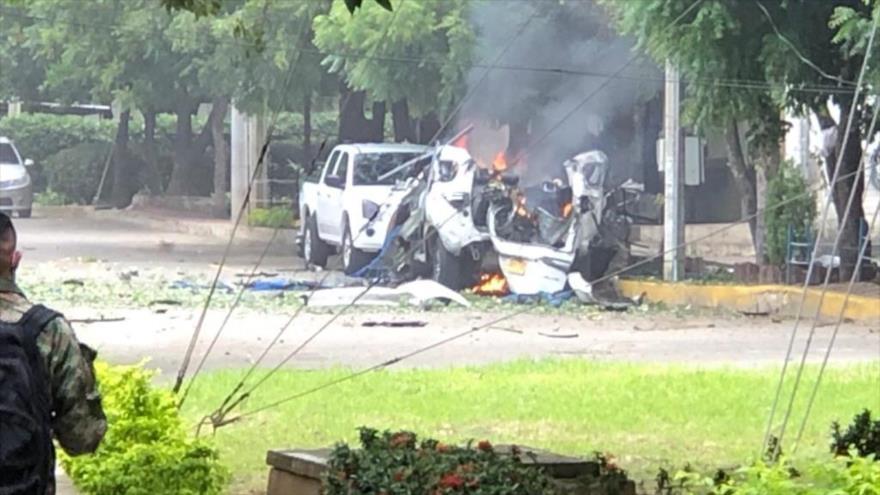 Explosión de coche bomba en un cuartel en Colombia deja 36 heridos