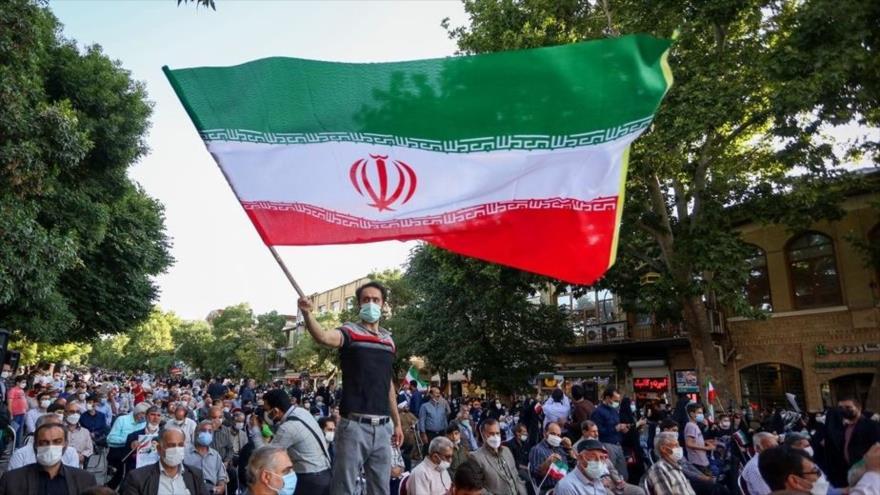 Iraníes en un mitin de campaña electoral en la ciudad de Hamedan a dos días de las elecciones,16 de junio de 2021. (Foto: Fars)