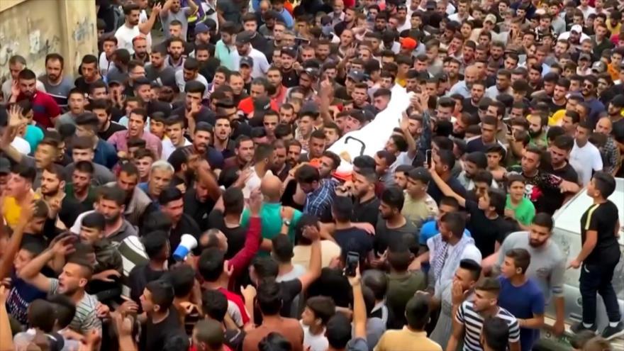 Se realiza el funeral del adolescente palestino asesinado por Israel