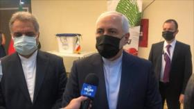 Canciller de Irán: Las urnas determinan el rumbo del país